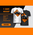 t-shirt template fully editable with vintage hot vector image vector image