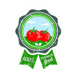 tomato label vegetable logo retro sticker of vector image