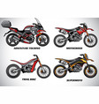 types of motorcycle part 2 vector image vector image