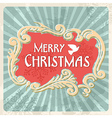 Vintage Merry Christmas sign postcard vector image vector image
