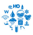 water icons set simple style vector image vector image