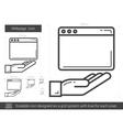 Webpage line icon vector image vector image