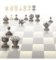 with chess pieces vector image vector image