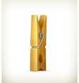 Wooden clothespin vector image vector image