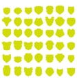 Yellow Shields vector image vector image
