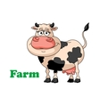 Cartoon farm cow vector image