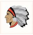 Indian head mascot vector image