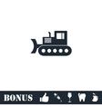 Bulldozer icon flat vector image