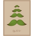 mustache tree christmas card hipster style concept vector image