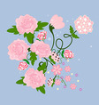 A bouquet of pink flowers vector image vector image