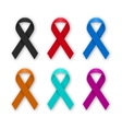 a set colored ribbons vector image