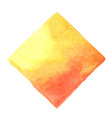 abstract yellow and orange color square watercolor vector image
