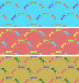 Ants color seamless pattern vector image