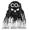 artistic drawing of smoke from smokestacks vector image
