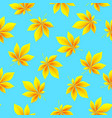 autumn leaves background fall seamless pattern vector image vector image