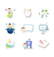 back to school set education set vector image vector image