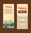 bakery house flyers vector image vector image