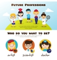 banners cute cartoon kids in different vector image