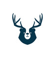 bear deer logo for branding or merchandise and t vector image vector image