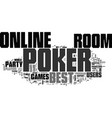 best online poker room text word cloud concept vector image vector image