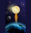 bitcoin is fast growing crypto currency is vector image vector image