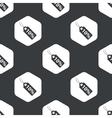 Black hexagon discount pattern vector image vector image