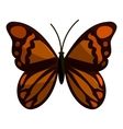 Brown butterfly icon cartoon style vector image vector image