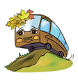 bus autumn vector image vector image