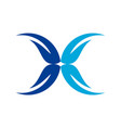 butterfly letter x logo icon vector image