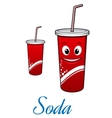Cartoon cola or soda character vector image vector image