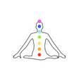 chakra icons with respective colors vector image vector image