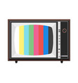 colorful soviet tv set vector image