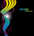 colorful wave in 3d look vector image