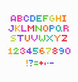 crystal pixel font retro video game design vector image