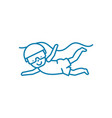 diving linear icon concept diving line vector image