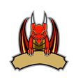 Dragon Badge vector image