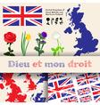 england floral symbols vector image