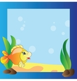 Frame - marine life vector image vector image
