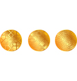 gold pattern medal vector image vector image