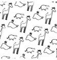 grunge silhouette wild animal safari background vector image vector image