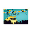 halloween party background template business card vector image vector image