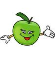 Happy apples vector image vector image