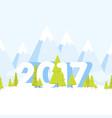 happy new year landscape concept cartoon vector image vector image