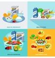 Healthy Food Flat Set vector image