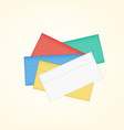 isolated closed colored pile of envelopes vector image vector image