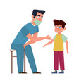 kids vaccination doctor in medical mask vector image