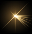 light with a glare golden color vector image