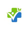 medical plus health logo icon symbol design vector image