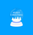 merry christmas transparent snow globe holiday vector image vector image