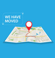 moving concept changing address vector image vector image